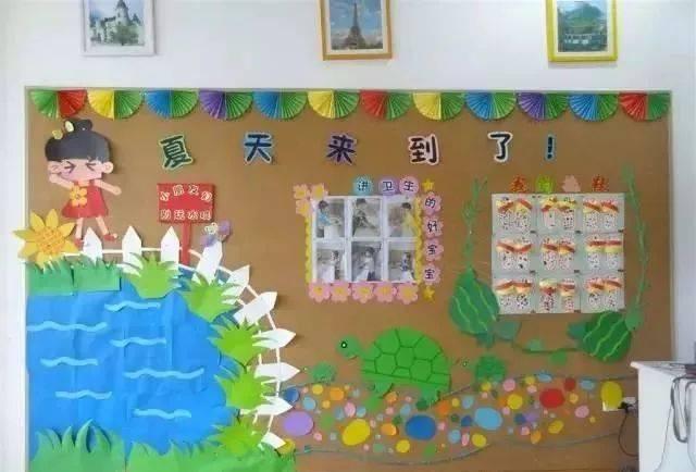 夏天到了,幼儿园夏季主题墙手工环创布置在这里
