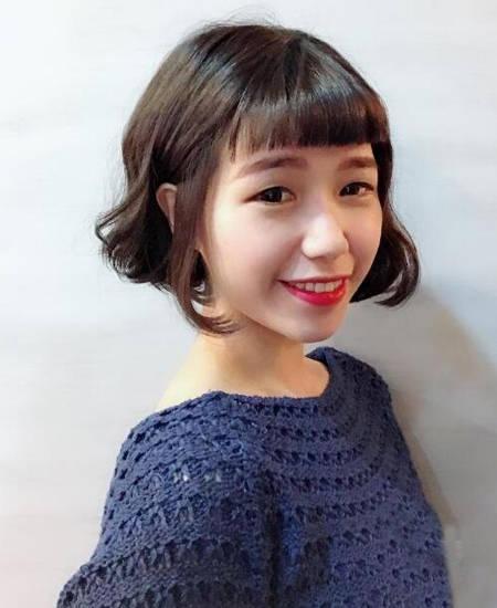 2018日系流行发型top4:眉上刘海短发
