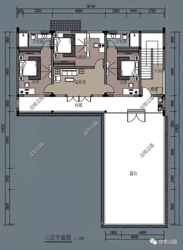 农村三层新中式别墅,内庭院中堂土灶现代双厨房,大家都喜欢