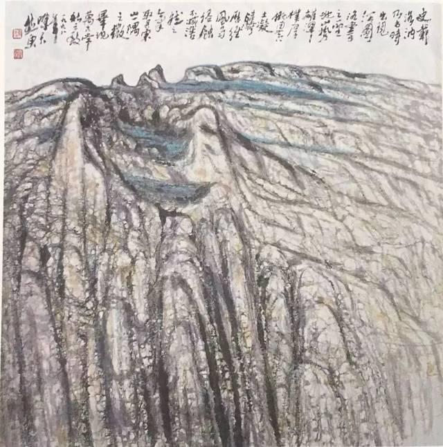 陈天然与夫人牛翎 四壁书画散发大家幽香;文雅气息充溢名士华堂.图片
