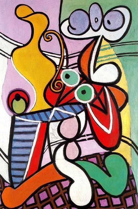 这种画风让我想起了毕加索的作品,再欣赏几张