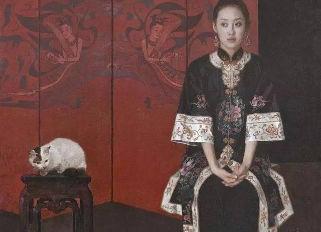 白女人与黑女人人体艺术�_艺术中的动物3:爱猫就像爱女人 张小玉