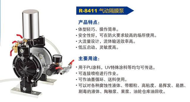 荣鹏立式气动隔膜泵及压力原理【创新专利产品】图片