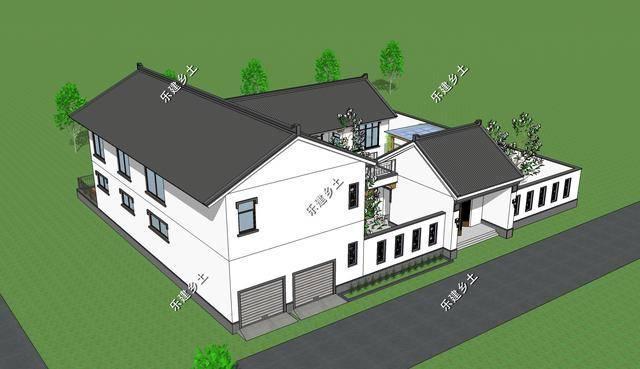 二层22x27米新中式民居合院设计,江苏省兴化市唐先生项目展示图片
