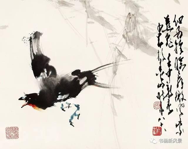 三位大师画飞鸟,绝啦!
