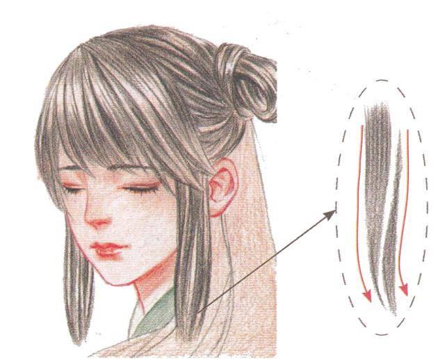 彩铅画必备基础,让古风美人的头发更加飘逸柔顺!