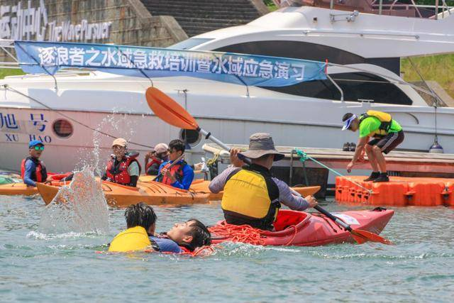 千岛湖逐浪者皮划艇俱乐部举行水域a水域v水域夏天_登山装备手套图片