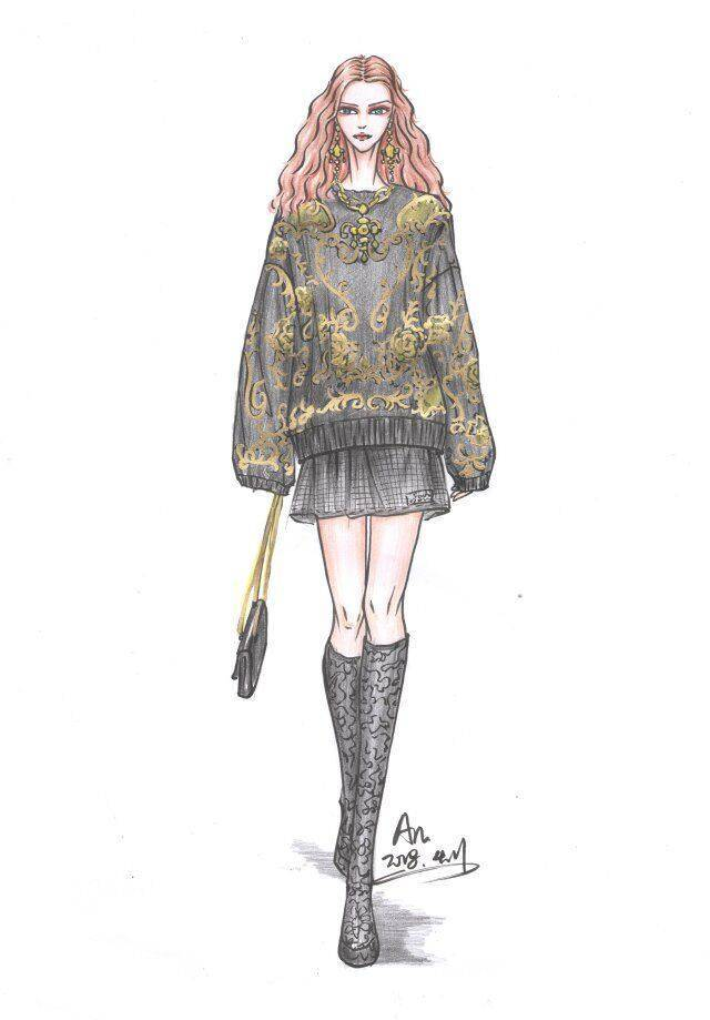 服装设计图 手绘效果图步骤图,手把手教你画出漂亮的服装画
