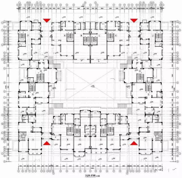 合院别墅平面图(案例)