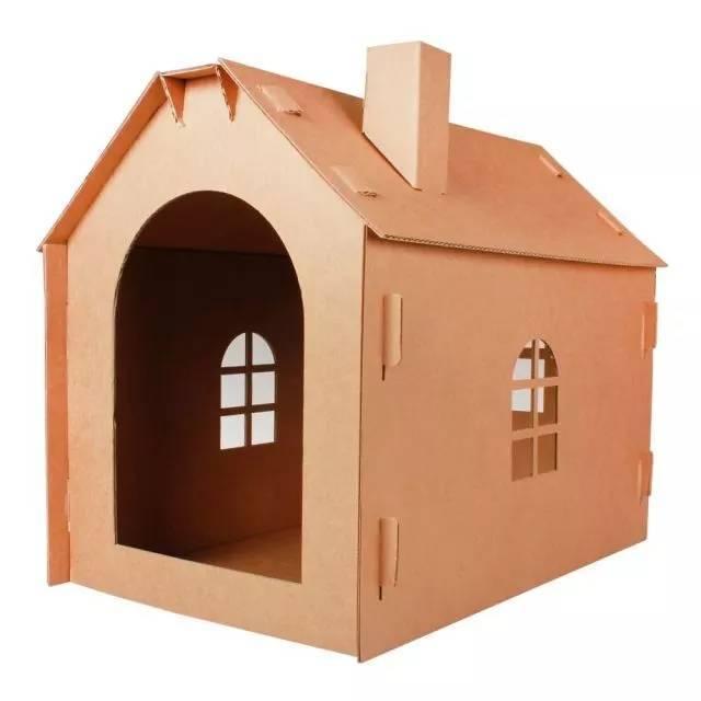 纸皮手工制作房子简单