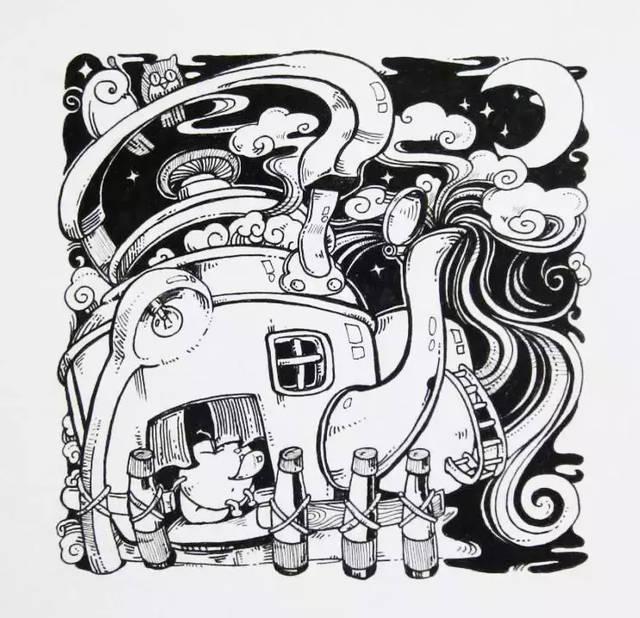 四川美术学院设计高分卷欣赏,黑白装饰画,高分卷原来长这样