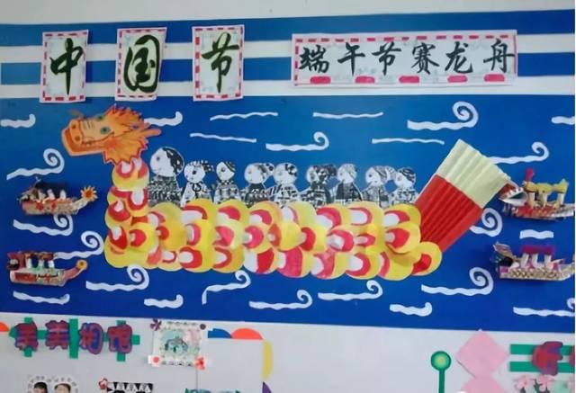 本文由《幼儿园手工》编辑,转载须注明来源!  中国传统节日五月初五端午节即将来临, 端午节是中华民族的传统节日,为了让孩子们了解端午节 独特的习俗和丰富的文化内涵,在幼儿园环创主题墙设计中, 我们可以将龙舟、粽子等各种元素融入其中。 以下有三十多款端午主题墙方案,供幼师们参考! 龙舟主题