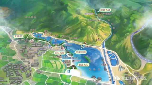 丽江市旅游地图
