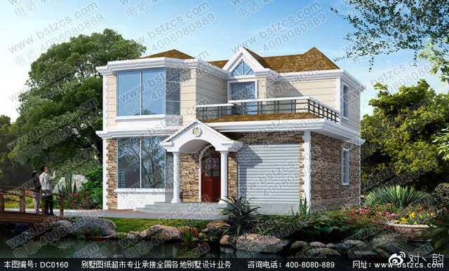 二层带露台别墅别墅v二层效果图及施工图从东莞大气山湖图片