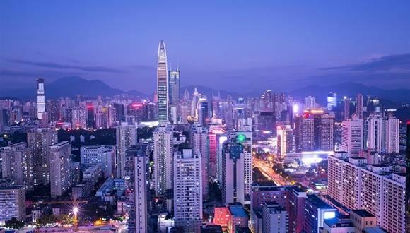 深圳夜景_深圳夜景 图片来源:视觉中国