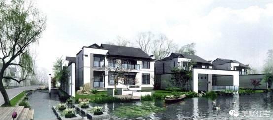 新中式别墅已经在农村的自建房中,形成看一股新潮流.图片