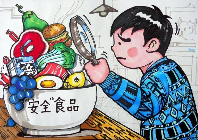杭州市翠苑第一学校食品安全在我心廖艺涵杭州市育外国语漫画汪小学佐助小樱图片