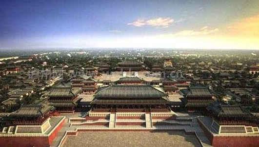 大明宫还有着一则传说,传说在宫殿建造之初,挖出了一面古铜宝镜,传说