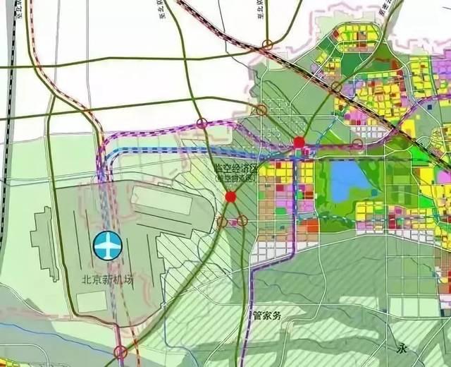 北京新机场临空经济区总面积约150平方公里,其中北京部分约50平方公里图片