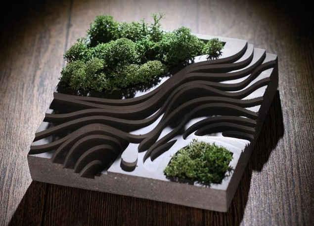 当然,也可以费点心思,做些创意水泥花盆.