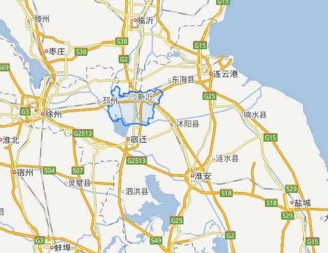 新沂城区地图高清版