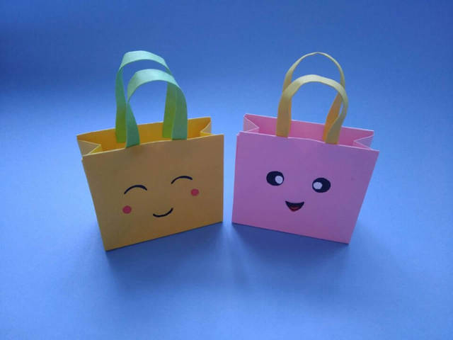 简单漂亮的手提袋,一张纸就能做出来,创意diy迷你礼品
