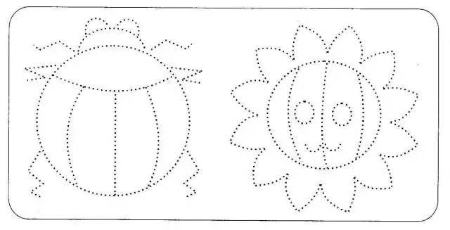 在教孩子学画图形时要尽可能地画一些孩子在日常生活中经常接触到的或用到的物体。这样,孩子在画时就容易与其已有的心理表象产生共鸣,所以他们容易去想,乐意去做,并且画起来也形象逼真。同时,这也更进一步强加他们对生活的观察与理解。 (4)画两条平行线,让孩子在已画好的限定线内画水平线或垂直线。两条限定线的距离可由窄到宽。 (5)让孩子听指令与父母交替画线。如父母画一竖线或横线,让孩子挨着画一条竖线或横线;父母画一竖线,让孩子画一条水平线,或父母画一条水平线让孩子画一条竖线;父母还可以与孩子双方交叉画线,如父母画