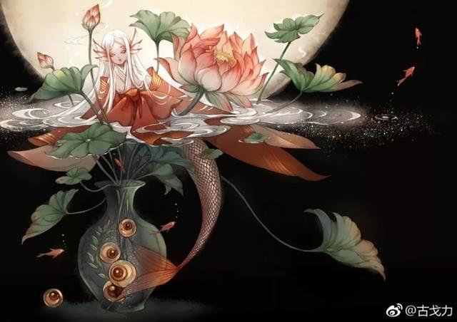 古风画手绘简单花