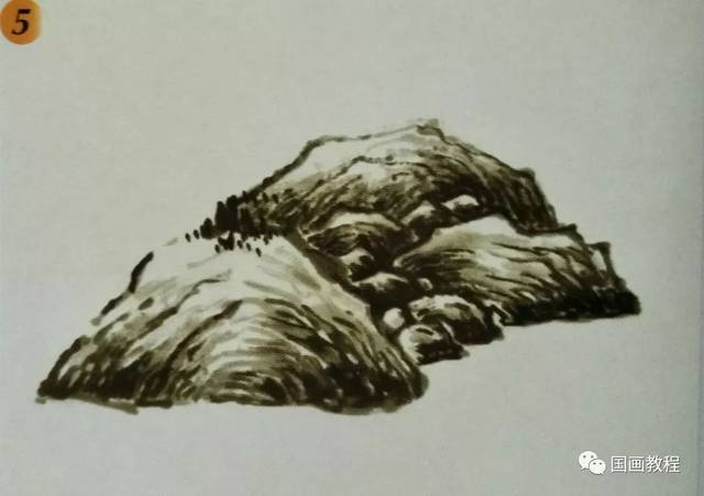 国画山水基础教程—山石的基本皴法图片