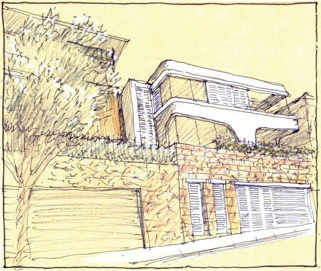 建筑手绘图 地址: 澳大利亚设计团队: luigi rossel 项目设计师