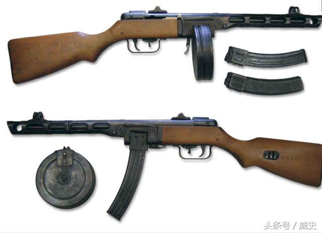 波波沙图_一代经典的冲锋枪 苏联ppsh41 波波沙冲锋枪