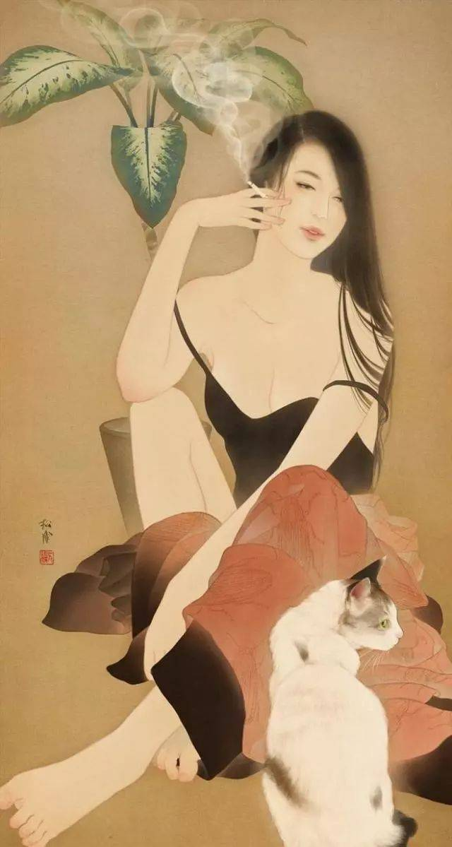 日本浮世绘画家笔下,妖娆的美女惹人侧目