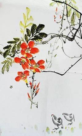 全国美术考级优秀作品欣赏——花鸟篇图片