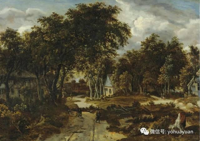 油画风景欣赏——梅因德尔特·霍贝玛-文化频道-手机图片