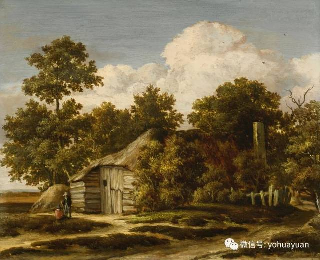 油画风景欣赏——梅因德尔特·霍贝玛图片