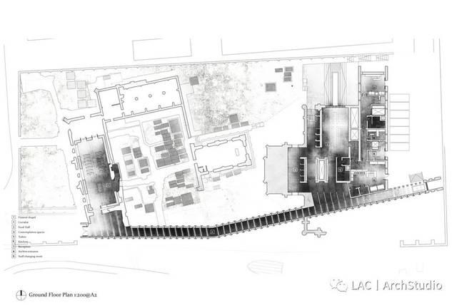建筑轴侧手绘图