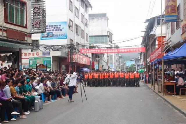 田林县举行2018年防洪抢险应急演练