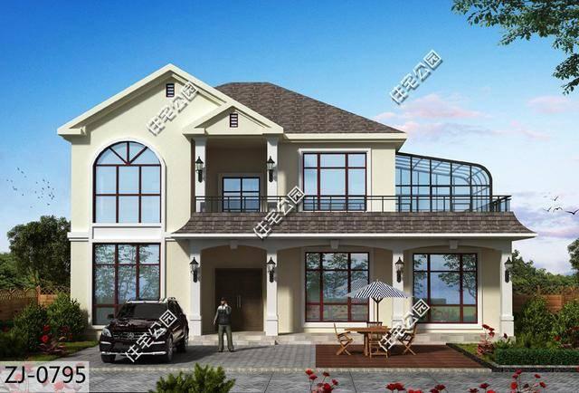 15x11米农村别墅,大客厅阳光房,尽享阳光农村生活