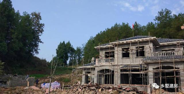 四川别墅建起回乡记,32万建房两层小石材,当地别墅风景线!一道大叔全图片