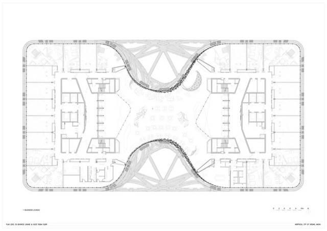 楼商务休息室,客房平面图