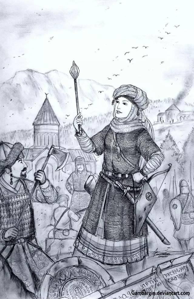 一组根据历史资料手绘的女性盔甲