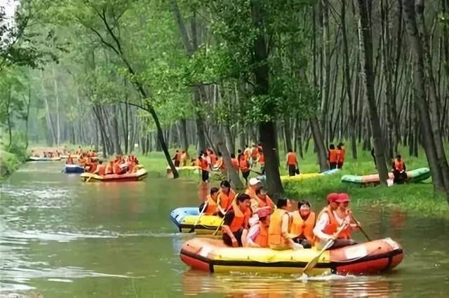 嵩县伊河漂流图片