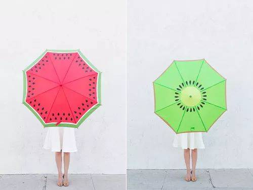 【创意手工】雨伞还能这样画?请拯救我炸裂的小心灵.