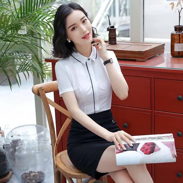 职场女性怎么穿出气质,韩剧美女韩版衬衫白富美图片