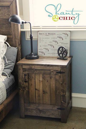【创意diy】老木头改造复古风格床头柜