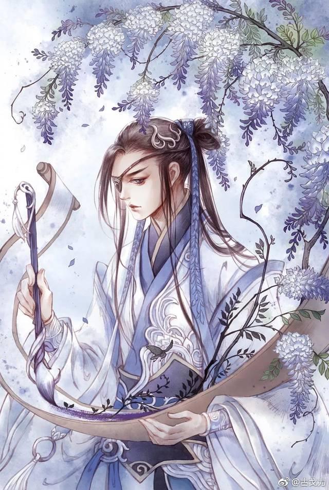 古风凤冠手绘图片