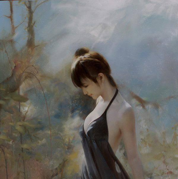 更真人体艺术私处图片_研究欧洲油画的绘画,创造出具有中西特色的中国人体油画艺术!