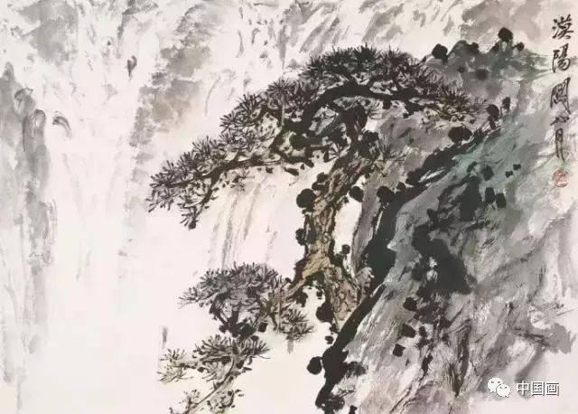 松瀑图关山月(1912-2000)图片