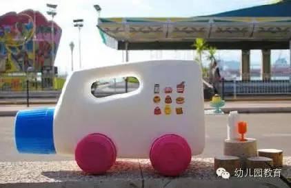 幼儿园废旧塑料物品交通工具手工制作分享