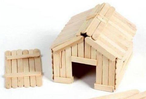 雪糕棒手工制作 木屋